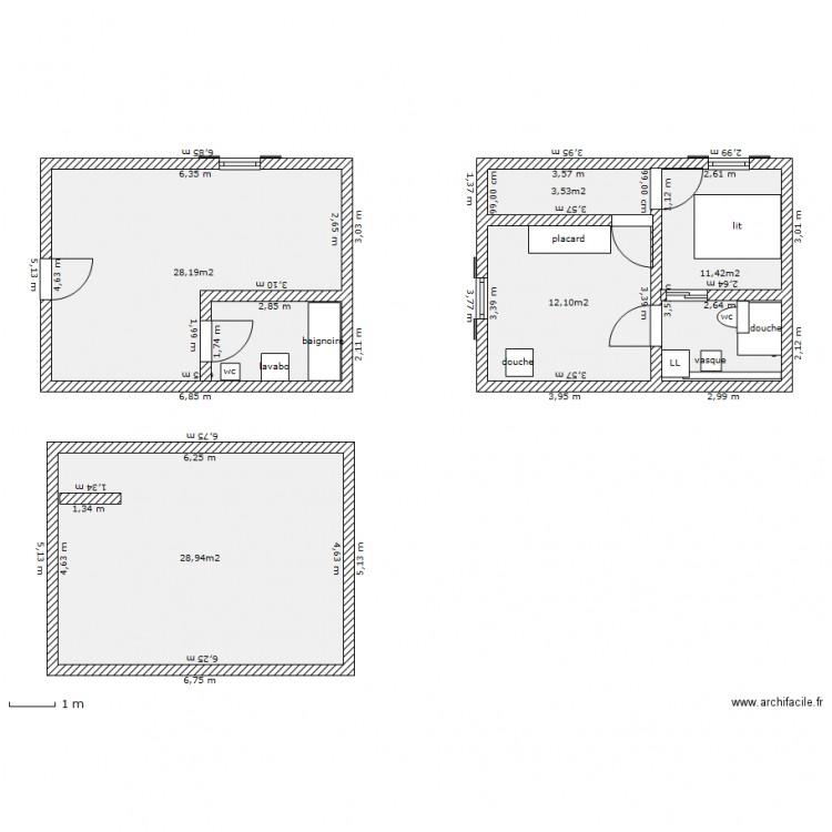 plan maison etage 30m2