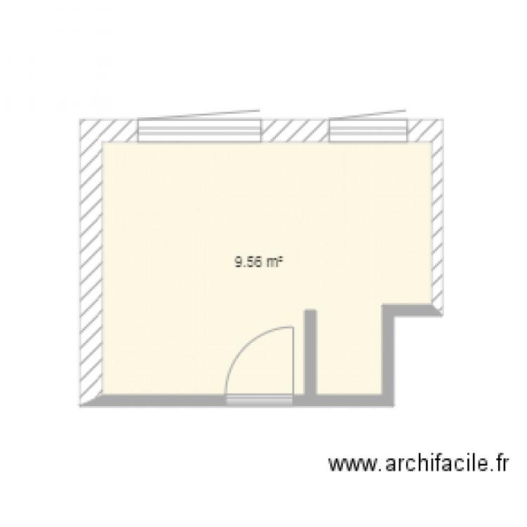 Salle De Bain Plan 1 Pi Ce 10 M2 Dessin Par Juu03
