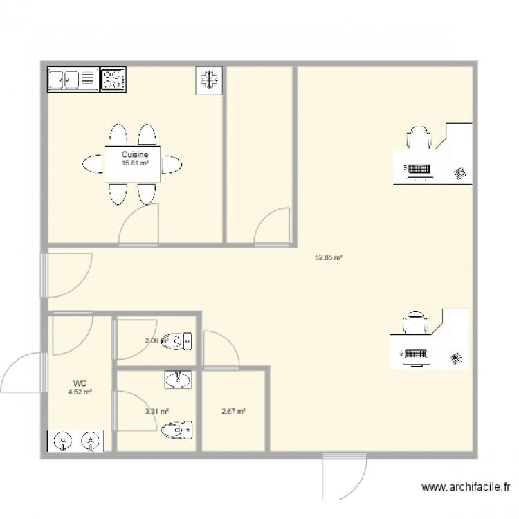 Plan algeco 2 plan 6 pi ces 81 m2 dessin par cycladent black bedroom furniture sets home - Maison algeco prix ...
