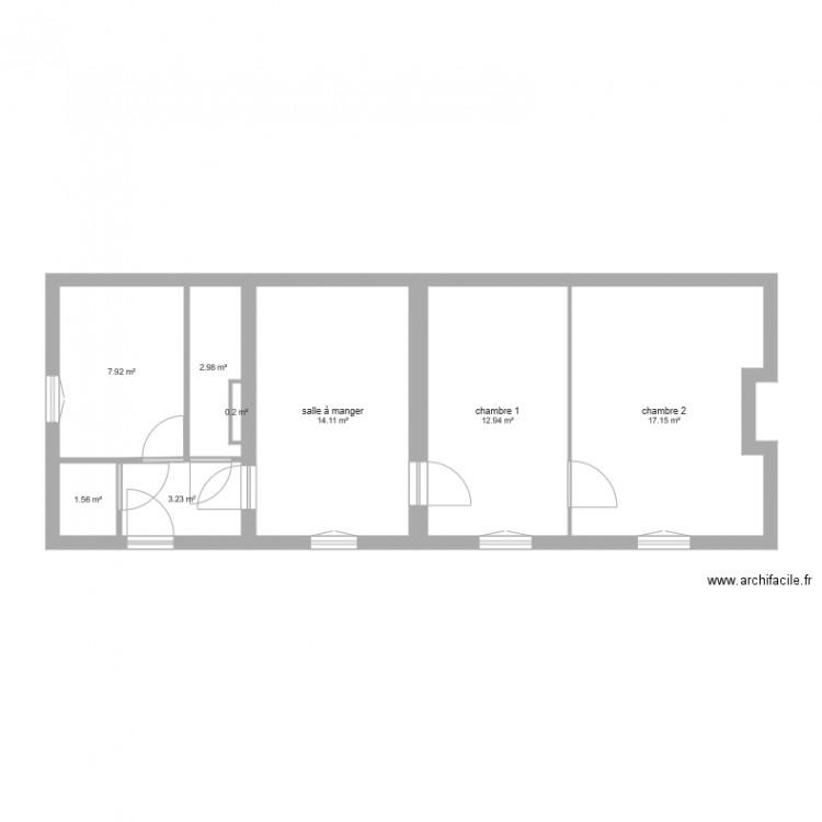plan maison gergy modili plan 8 pi ces 60 m2 dessin par vini999. Black Bedroom Furniture Sets. Home Design Ideas
