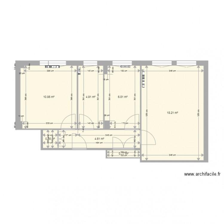 Ezanville actuel plan 7 pi ces 47 m2 dessin par doga95 for Piscine ezanville