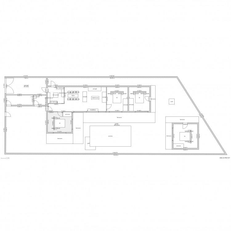 Plan maison senegal plan 3 pi ces 429 m2 dessin par manich for 429 plan