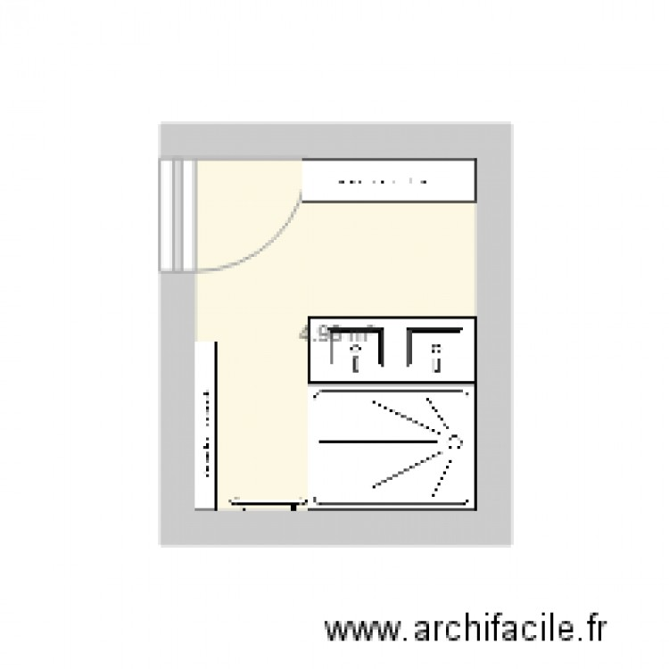 salle de bain 3 plan 1 pi ce 5 m2 dessin par emilonga. Black Bedroom Furniture Sets. Home Design Ideas