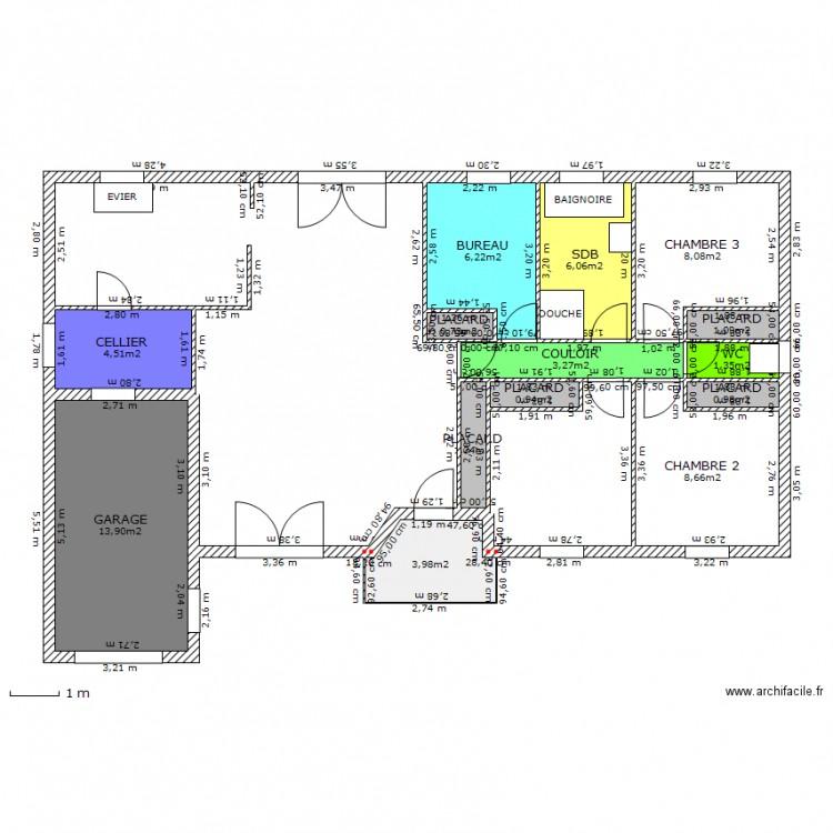Maison mca plan 14 pi ces 61 m2 dessin par orodoudou for Plan maison mca