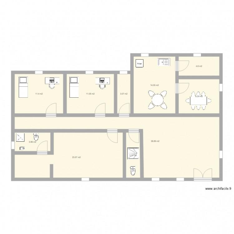Plan plan 10 pi ces 120 m2 dessin par roumayne - Plan appartement 120 m2 ...