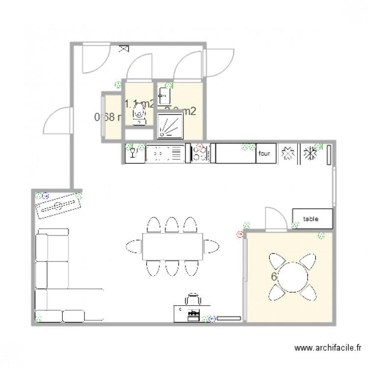 appartement taille r elle modification piece a vivre plan 4 pi ces 11 m2 dessin par. Black Bedroom Furniture Sets. Home Design Ideas