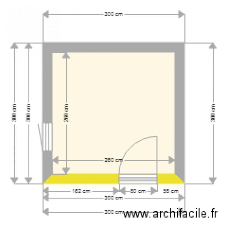 Plan Coupe Abri De Jardin Plan 1 Piece 7 M2 Dessine Par Alfonsi