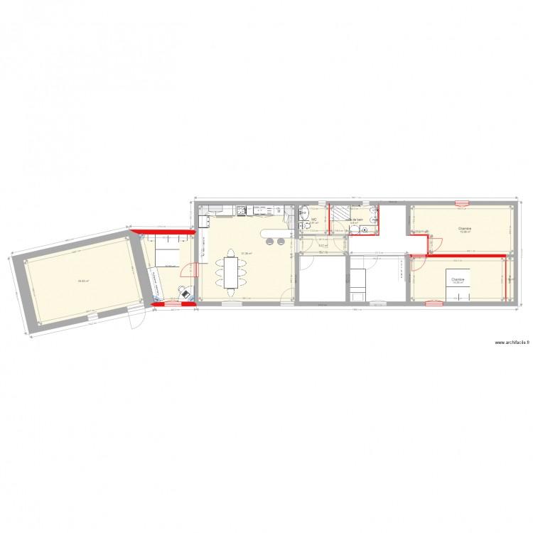 Plan maison cindy modifier plan 9 pi ces 109 m2 dessin for Modifier plan maison