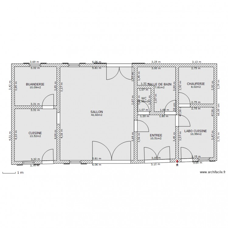 Maison plan 8 pi ces 105 m2 dessin par tophe63 for 105 plan