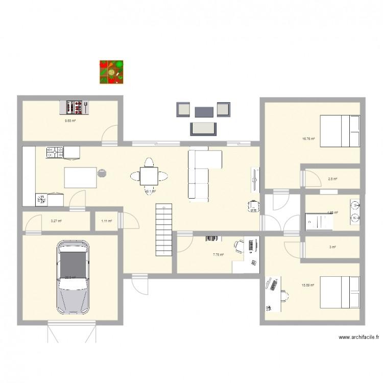 plan de maison en h