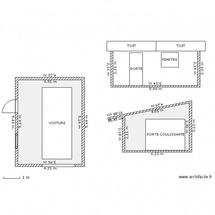 garage 20 m2 1 plan 2 pi ces 30 m2 dessin par acacias91. Black Bedroom Furniture Sets. Home Design Ideas