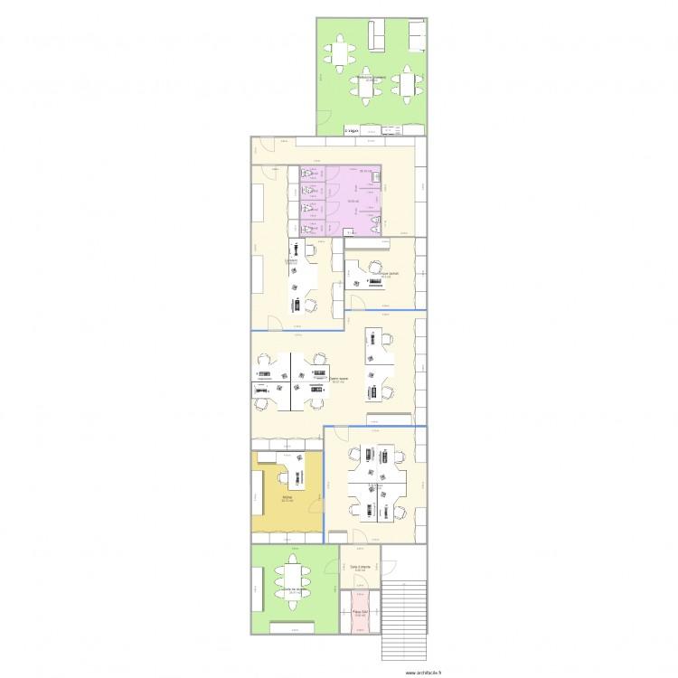 Belot bureau projet together plan 15 pi ces 296 m2 for Nombre de m2 par personne bureau