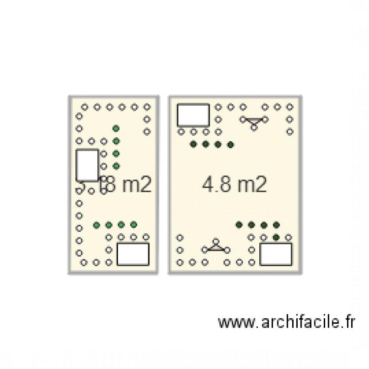 Tac tik plan 2 pi ces 8 m2 dessin par damieng85 - Comment fabriquer le jeu tac tik ...