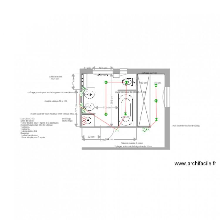 Plan électrique Salle De Bains Asnières 6 Juin 2017 Plan