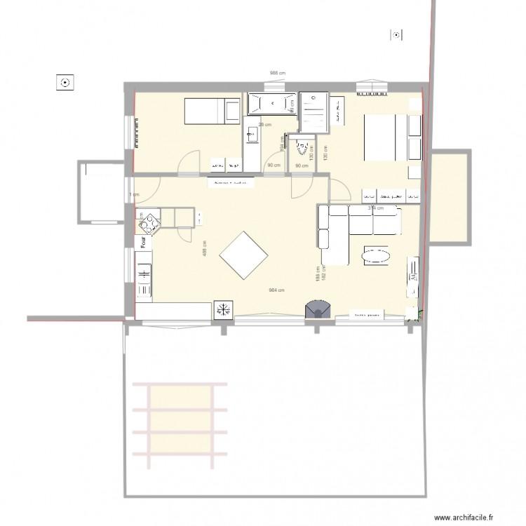 le bon meuble plan 10 pi ces 82 m2 dessin par terry55. Black Bedroom Furniture Sets. Home Design Ideas
