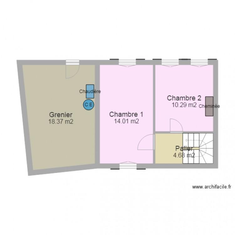 Canteleu 12 plan 4 pi ces 47 m2 dessin par rogeville for Canteleu piscine