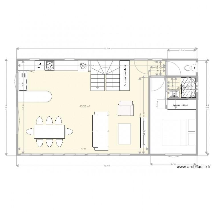 La Maison Des Chats Plan 2 Pi Ces 45 M2 Dessin Par Bloupi77