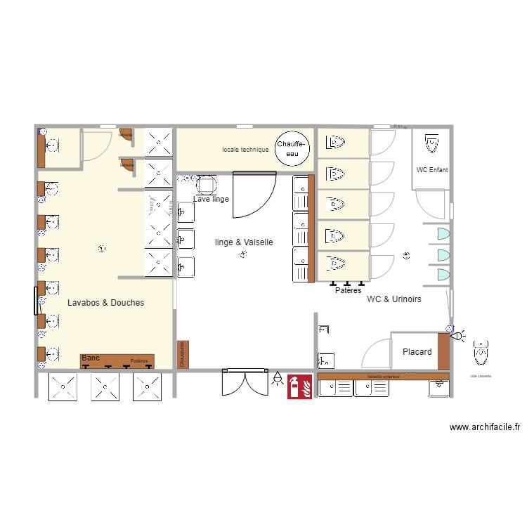 2d sanitairev7 plan 10 pi ces 54 m2 dessin par cathyp - Plan 2d facile ...