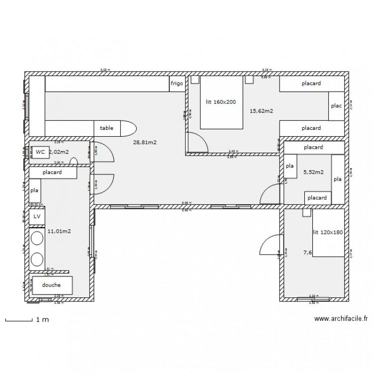 plan de maison 12m sur 12m