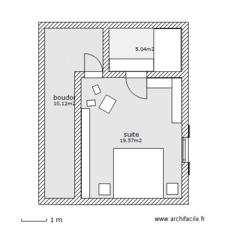 Suite parentale plan 3 pi ces 35 m2 dessin par maximusdeus for Plan de suite parentale