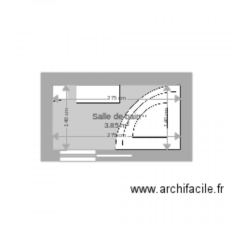 Salle de bain plan 1 pi ce 4 m2 dessin par clenabat for Salle de bain 4 m2