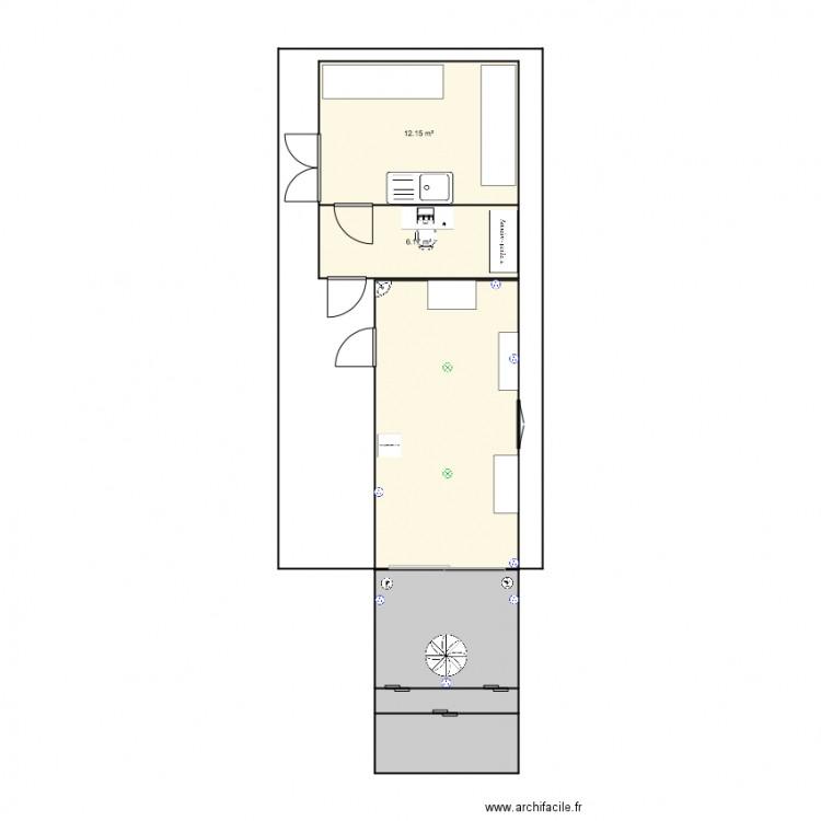 Local technique plan 6 pi ces 48 m2 dessin par adrien for Plan local technique