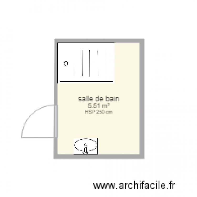 salle de bain etage 123 plan 1 pi ce 6 m2 dessin par stef722. Black Bedroom Furniture Sets. Home Design Ideas