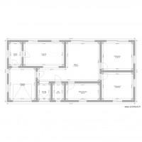 plan architectural simple maison plein pied