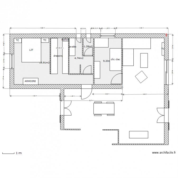 Extension maison 2013 27 04 apres modif sdb avec cotation for Plan maison avec cotation