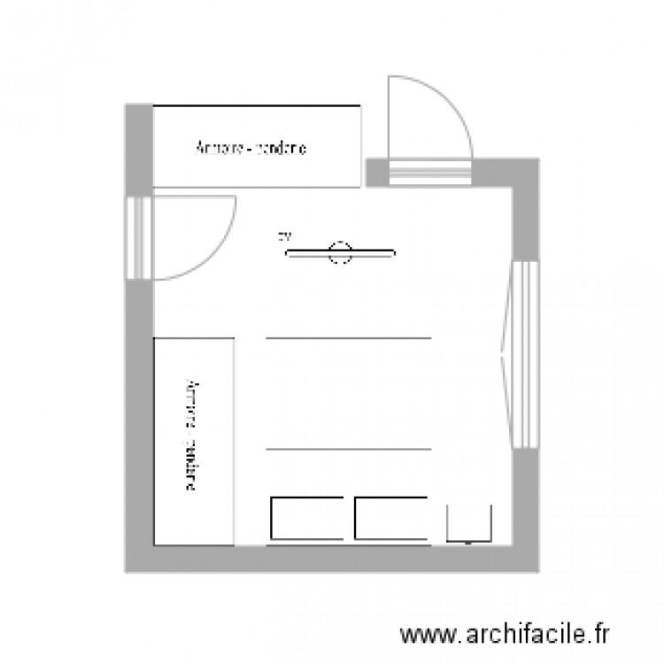 Chambre parentale plan dessin par woname for Taille chambre parentale