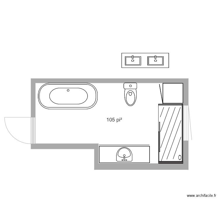 Plan 2 salle de bain plan 1 pi ce 10 m2 dessin par djouli21 for Du cote de chez vous salle de bain