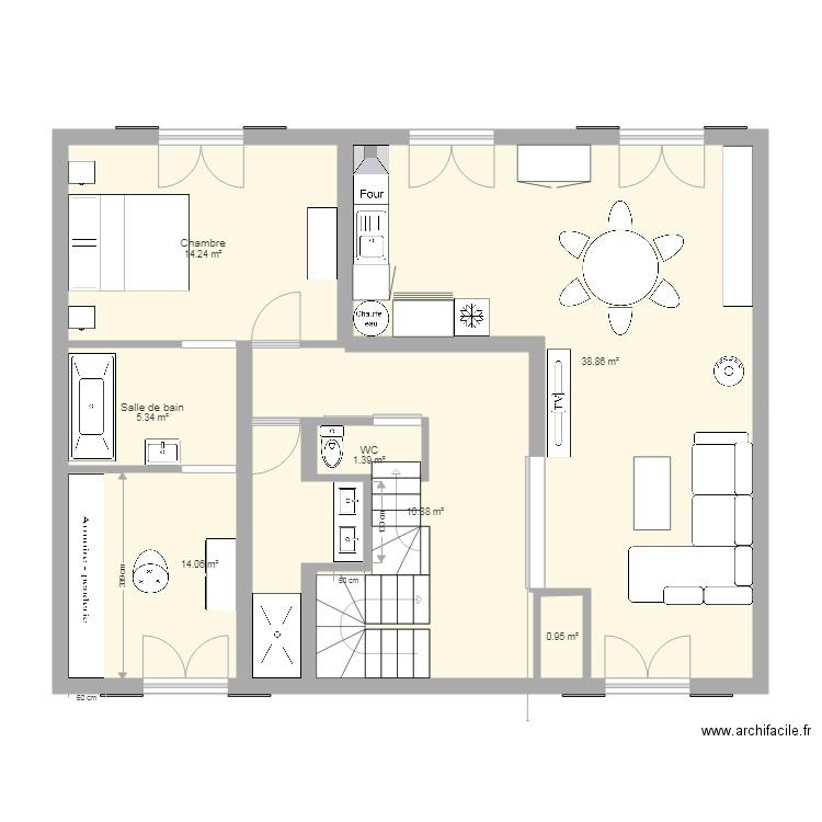 Santeuil renovation 2 plan 7 pi ces 91 m2 dessin par for Aide pour renovation maison
