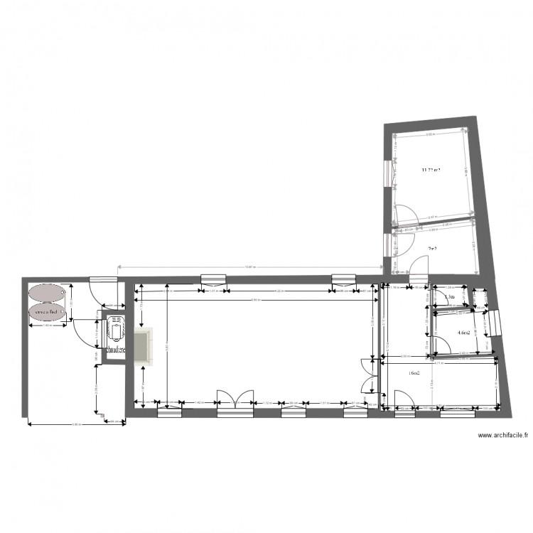 Plan maison cote avec cote plan 5 pi ces 101 m2 dessin for Plan de maison cote