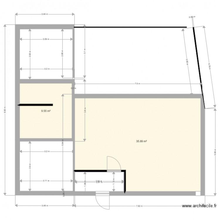 Plan Maison Archifacile Plan 2 Pi Ces 45 M2 Dessin Par