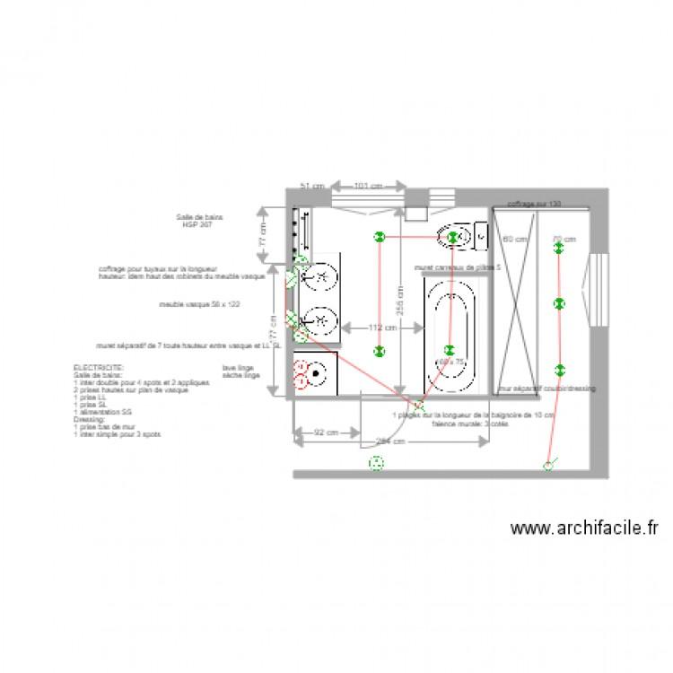 Plan lectrique salle de bains asni res 7 juin 2017 plan for Plan electrique salle de bain