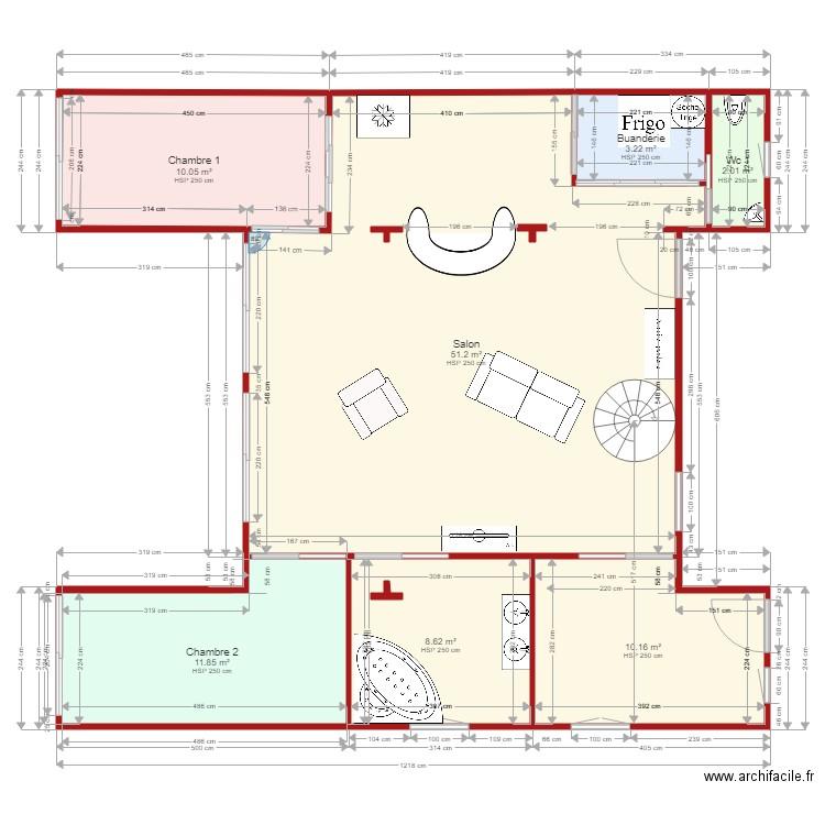 Maison habitation st clair 3 d finitif meubl 1 plan de 12 pi ces - Plan de maison 2 pieces ...