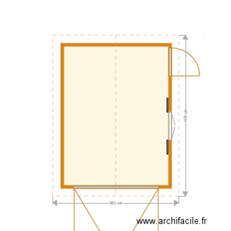 Abri de jardin plan 1 pi ce 12 m2 dessin par bobo30340 - Abri jardin grande taille ...