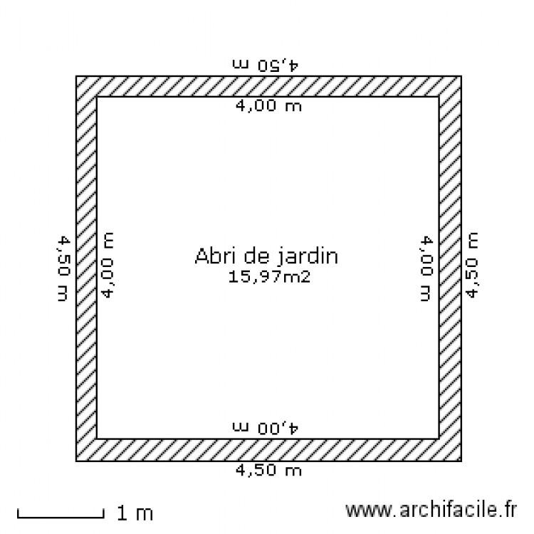 Abri de jardin plan 1 pi ce 16 m2 dessin par dudul5169 - Abri jardin grande taille ...