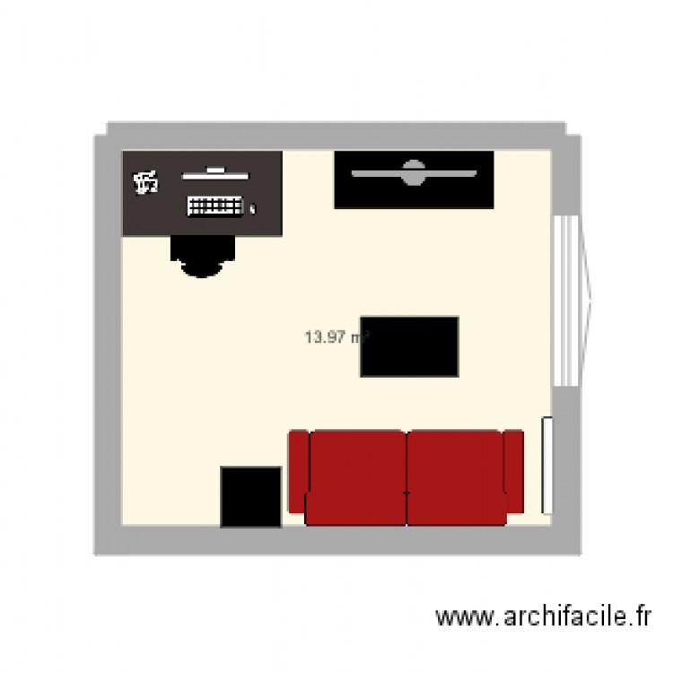 Salon Maintenant Plan 1 Pi Ce 14 M2 Dessin Par Tigre787