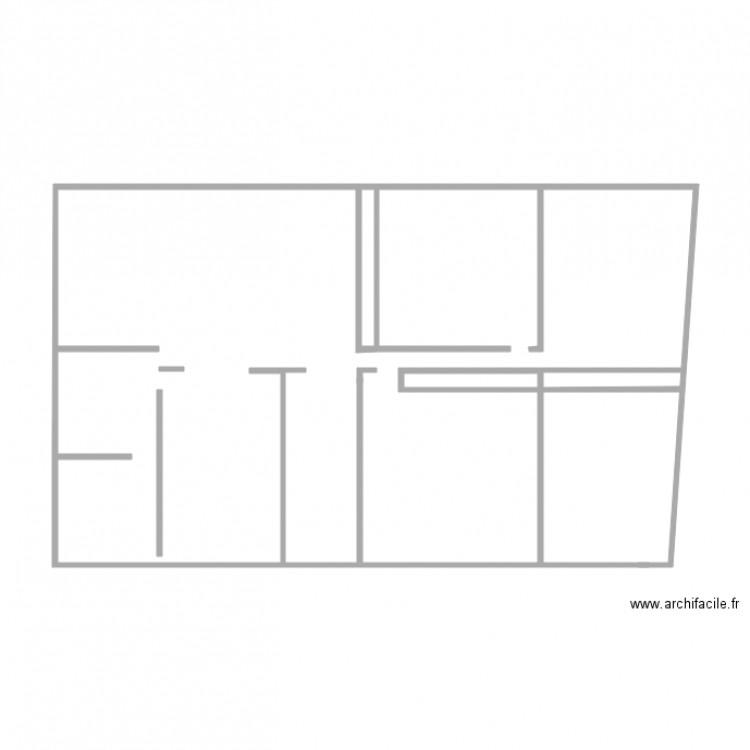 Maison 3 plan 2 pi ces 1 m2 dessin par filoucoca - Plan de maison 2 pieces ...