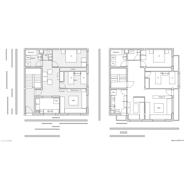 plan maison 82 m2