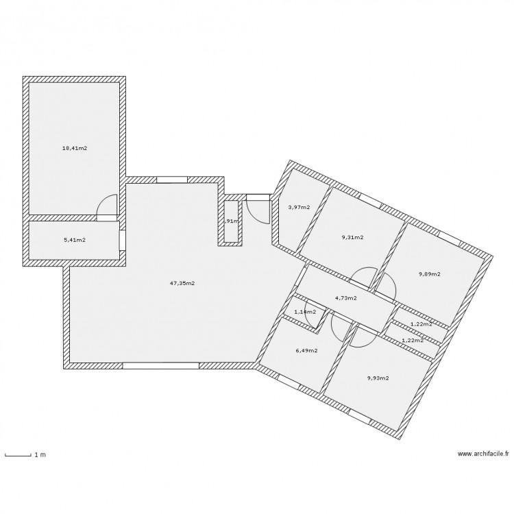 Maison v plan 13 pi ces 120 m2 dessin par milou33380 - Plan appartement 120 m2 ...