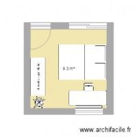 cuisine plan 1 pi ce 7 m2 dessin par melkensh. Black Bedroom Furniture Sets. Home Design Ideas