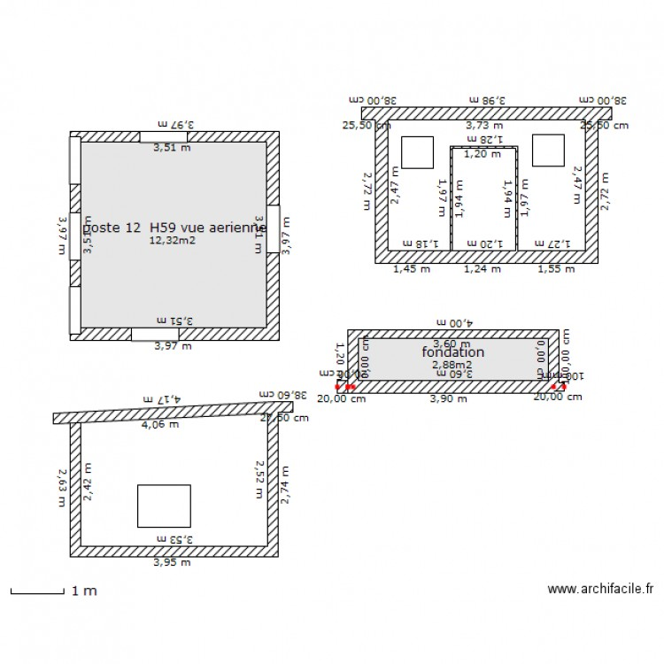 Poste de transformateur electrique plan 2 pi ces 15 m2 dessin par djakus - Consommation electrique moyenne maison 140 m2 ...