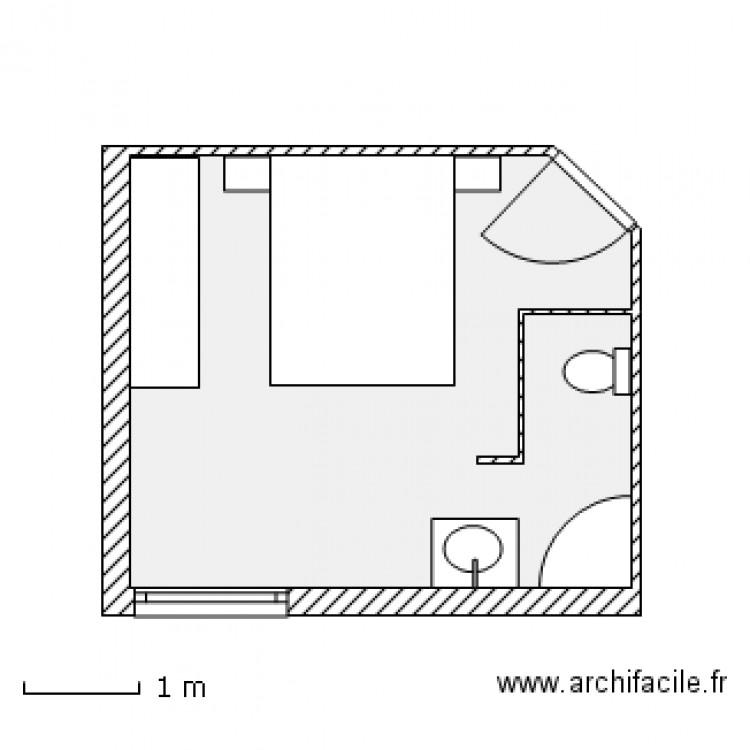 suite parentale plan 1 pi ce 16 m2 dessin par titicham. Black Bedroom Furniture Sets. Home Design Ideas