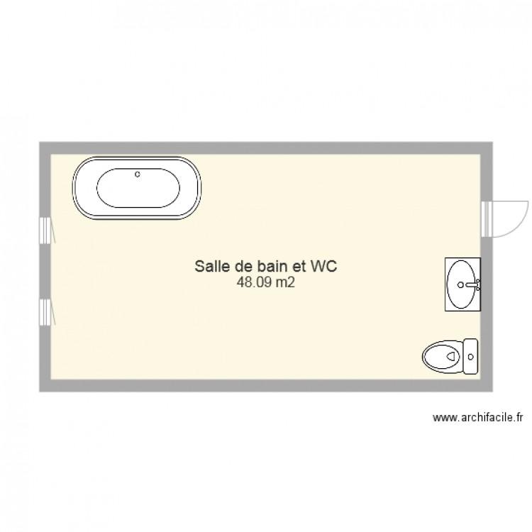 U33 plan 1 pi ce 48 m2 dessin par emmaalan - Wc petite taille ...