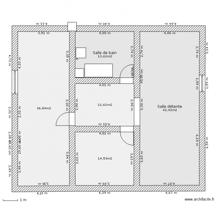 amenagement combles 01012011 plan 5 pi ces 118 m2 dessin par cdar. Black Bedroom Furniture Sets. Home Design Ideas