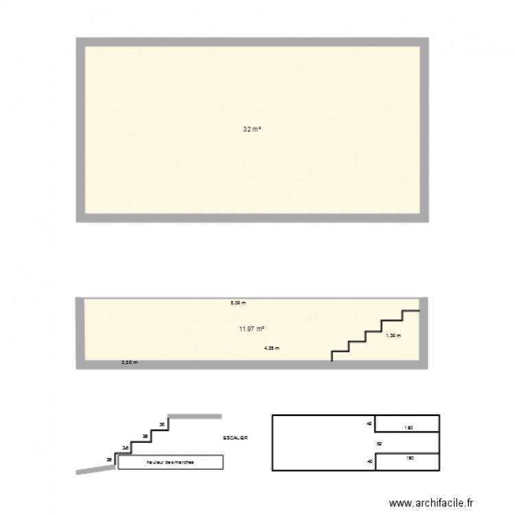 Piscine 8x4 plan 2 pi ces 44 m2 dessin par marawen for Plan piscine 8x4
