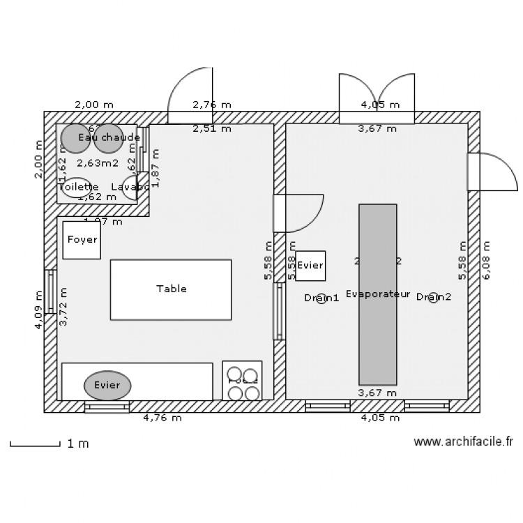 Cabane a sucre plan 3 pi ces 44 m2 dessin par circemax - Plan cabane en bois pdf ...