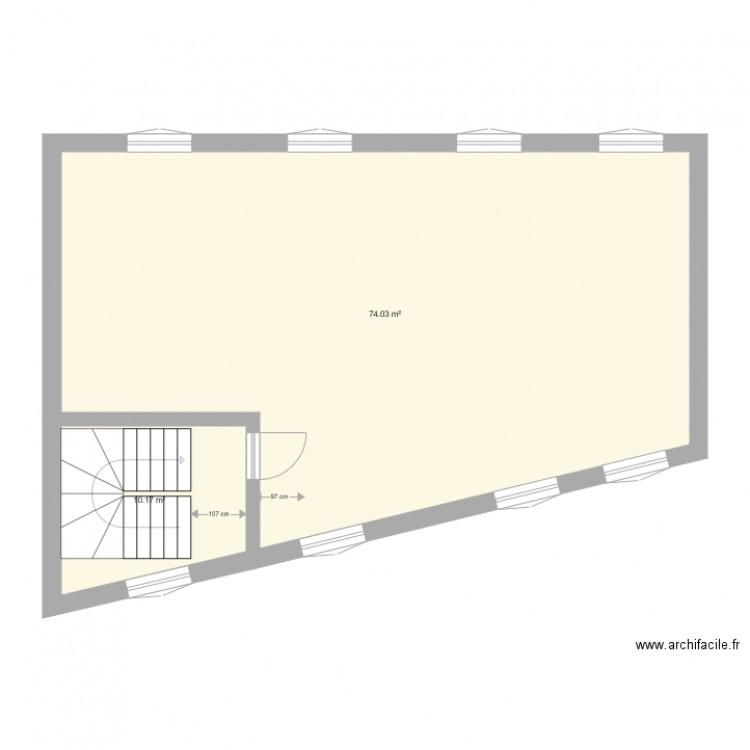 Noisy le sec 2 plan 2 pi ces 84 m2 dessin par archimile for Garage mini noisy le sec